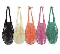 Alışveriş Çantaları Mesh Net Dize Çanta Kullanımlık Tote Meyve Depolama Çanta Katlanabilir Ev Çanta Bakkal Örme Çanta Deniz Nakliye FFB4030
