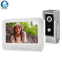 فيديو باب الفيديو السلكية نظام الجرس إنترفون نظام 7 بوصة لوحة مراقبة اللون مع كاميرا للرؤية الليلية الهاتف في اتجاهين الصوت الرئيسية استخدام 1