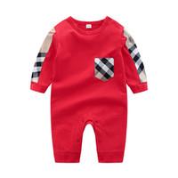 Baby Kleidung Baby Stripe Räumliche Frühling Herbst Neue Strampler Baumwolle Neugeborene Baby Mädchen Junge Kinder Designer Infant Overallsuits