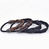 Horquillero Anillo de cuerda de pelo coreano Elástico trenzado Tonytail Wrap WRAP DESJUSTICIO ACCESORIOS DE CANTENCIA SINTETICA Caballo de caballo Pelo 13 N2