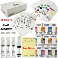 Choices Vape Cartridges Full Ceramic Cart 510 Thread 20Colors Vapes 0.5ml Press On Seal Sticker Empty Oil Carts Hologram Packaging Cartridge