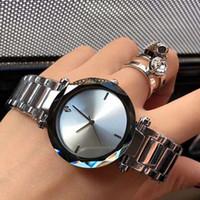 Lujo nueva moda acero inoxidable impermeable alto regalo reloj marca mujer vestido reloj de acero inoxidable taladro de cuarzo 34mm reloj al por mayor