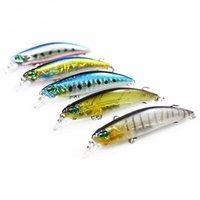 5 шт. / Лот 6,5 см 4g Рыболовные приманки Плавучая лазерная рыболовная приманка приманка, пристрастительная жесткая приманка Crankbait Wobblers Пластиковая рыба