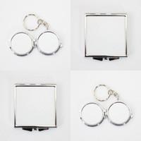 Sublimación en blanco maquillaje espejos circular en forma de niña al aire libre Mini transferencia térmica impresión de moda de moda cosmética mirando cristal DIY 3 2RJ J2