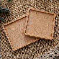 الزان الخشب كوستر الإبداعية الرئيسية تحديد الموقع الشاي كوب حامل جولة ساحة الصلبة الخشب العزل الحرارة ساد خشبي كوستر 9.5 سنتيمتر