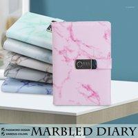 A5 Ноутбук бумаги винтажный кожаный дневник драгоценного дневника с комбинированным паролем Блокировка кода ноутбук школьные офисные канцтовары1