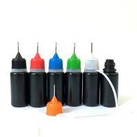 Aiguille de couleur noire E liquide 5 ml 10 ml 30 ml de bouteilles de remplissage de plastique souple de plastique souple LDPE plaçant goutte-goutte d'aiguille d'aiguille de jus de jus de jus de jus de jus de souffle