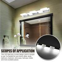 최고의 12w 4 개의 조명 아크릴 벽 램프 욕실 램프 흰색 빛 실버 상위 학년 소재 방수 벽 램프