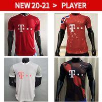 20 21 Bayern player versão futebol jerseys lewandowski jersey 2020 2021 Hummels camisa de futebol homens uniformes