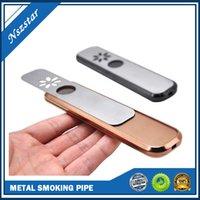 Tubulação de fumo de metal de alumínio 180mm comprimento colorido tabaco tubulação de mão erva para gênio acessórios de fumo Handheld Colher Queimador Vaporizador