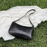 سيدة حقيبة محفظة حقيبة نمط المرأة الأزياء الرغيف الفرنسية بو الإبط الفاخرة الفرنسية الكتف جلد التصميم حقيبة يد الرجعية التمساح PSCGT