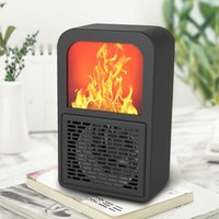 Chauffage électrique Chauffage portable Chauffage domestique de bureau de bureau Flame Flame Poêle Mini Réchauffeur Ventilateur d'air pour salon Chambre à coucher