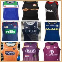 2020 2021 Cowboys Wests Tigers Brisbane Broncos Maroons Jerseys Nouvelle-Galles du Sud Blues State Fidji Knight Eels Gilet Jersey