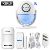 Kerui WP7 WiFi Motion Alarm System 120dB Ruidoso Detector de movimiento de PIR Detector de PIR LED LED Flash Sensor Infrarroado Alarma Y1201