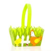 Dibujos animados conejo polla pascua cesta conejito impresión coloful huevo no tejido bolso de asas niño regalos niño caramelo huevo cubo cesta bolso de mano G12004