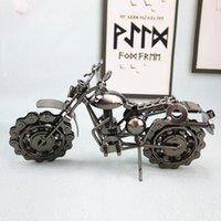 Handgemachte Eisen Motorrad Modell Retro Motor Figur Metall Dekoration Eisen Motorrad Prop Vintage Wohnkultur Kinder Spielzeug