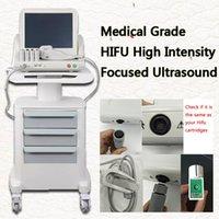 2020 مكافحة الشيخوخة HIFU آلة الموجات فوق الصوتية المركزة لإزالة التجاعيد الجسم رفع الجسم مع خراطيش 3 أو 5 (استبعاد عربة) CE