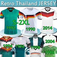 Germany soccer jersey Retro Ger Foodcer Jerseys Viele klassische Vintage 1980 88 1990 92 94 96 98 2004 06 14 Klinsmann Matthaus Deutschland Fußball Fooball Hemd