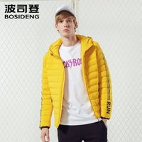Bosideng homens para baixo jaqueta leve leve esportes curtos moda impermeável cor sólida capuz para baixo outerwear venda B70132005 201119