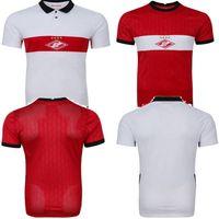 20/21 Spartak Moscow Soccer Jersey 2020 2021 Spartak Home Red Promes Bakaev Zobnin Schürrle Dzhikiya قمصان بعيدا أبيض