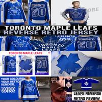 Toronto Maple Leafs Jersey 2020-21 Ters Retro 91 John Tavares 34 Auston Matthew 16 Mitchell Marner 97 Joe Thornton Hokey Jersey