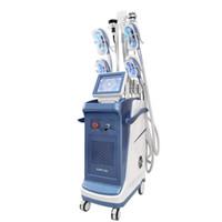 Новое поступление Многофункциональный 5 ручкой Cryotherapy + Lipo Laser + RF + кавитационный аппарат жир замерзший холодный корпус скульптурной системы для похудения