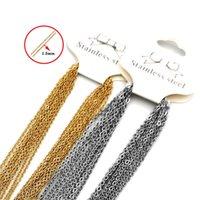 Hip Hop Ketten Halskette Männer Frauen Gold Farbe Edelstahl 45 cm o Link Kubanische Kette Halsketten Für Schmuck DIY Herstellung Zubehör 10pcs / lot