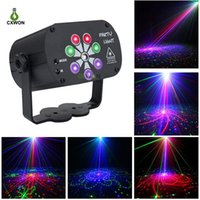 Laser Projector Light Sound Activated DJ Disco Lights 120 Patterns USB RGB UV Atmosphere Party Stage Laser Lamp with Remote Control