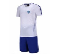 2021 SC Bastia 축구 셔츠 축구 유니폼 Tracksuit 청소년 축구 정장 어린이 짧은 훈련 유니폼 남자 운동복