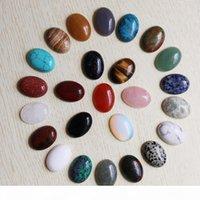 الجملة 18 ملليمتر * 25 ملليمتر جودة عالية الحجر الطبيعي البيضاوي كابوشون دمعة الخرز diy مجوهرات صنع عصابة شحن مجاني