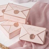 الإبداعية ورقة مربع bonbonniere للطي كرتون مغلف الحلوى الزفاف هدية مربع هدية التفاف التعبئة والتغليف لوازم الزفاف التعبئة مربع WMQ384