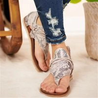 New Women Sandals 2020 Boho Estilo Leopardo Estampado Ladies Shoes Planos Tallas grandes Dropshipping Femenino Casual Playa Sandalias1