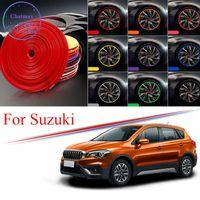 Gordure de hub de roue de voiture de 8 m de couleur multi-couleurs pour Suzuki S Cross SX4 Vitara Alto Altivio Edge Bague Bague Stickers en caoutchouc
