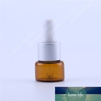 10pcs lot Empty 5ml glass cosmetic amber brown essential oil bottle small per