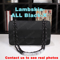 Klassische Modedesigner Frauen Handtaschen Geldbörse Hohe Qualität Kette Kreuz Body Bags Kleine Umhängetasche Echtes Leder Messenger Black Tasche
