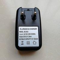 LIR2032 LIR2025 3.6V Li-Ion-Lithium-Wiederaufladbare Button Zellladegeräte EU-Stecker