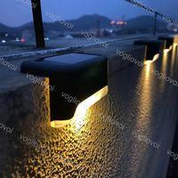 Güneş Lambaları Bahçe Işıkları Güverte IP65 Su Geçirmez Açık Patio Stepler Çit Step Merdiven Yolu Yürüyüşü DHL