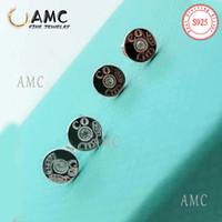 AMC 925 Sterling Silber Liebe Klassische herzförmige Starfish Runde Ohrringe Mode Weibliche Designer Ohrringe Großhandel sofort Schiff