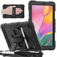 Sangle à l'épaule Hybride Heavy Duty Case avec protecteur d'écran pour Samsung Tab A7 10.4 T500 S7 T870 S6 Lite P610 T590 T510 T290 T307 T580