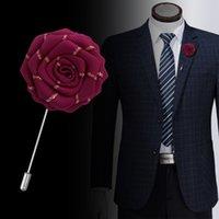 1 pz handmade mens risvolto flower stick pin wedding business taillery decorazione spilla pin boutonniere corsage gradisce regali per lui