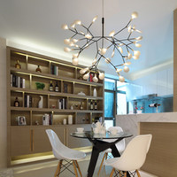 Firefly فرع شجرة الحديثة أدى مصابيح الثريا الاكريليك ورقة الثريات مصباح السقف لغرفة النوم الفن الزخرفية شنقا ضوء تركيبات