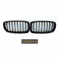 2 шт. Глянцевый черный Автомобиль передний бампер сетка гриль для 3 серии F30 F31 F35 Racing Grilles Grills 2012+