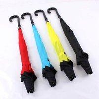 Kreative Doppelschicht Pantee Wasserdichte Rückwärts-Faltschirme-Regenschirm-kreativ faltbarer C-Typ-Sonnenschutz tragbarer Regenschirm PPD3525