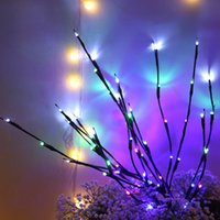 Árvore de Natal decoração Ramo de salgueiro 20 lâmpadas piscando luz diodo emissor de luz string de luz alto vaso salgueiro lâmpada lareira decoração festa DDE3101
