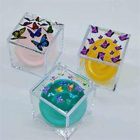 Квадратные прозрачные ресницы ящики личности печатание бабочки 25 мм ресницка пакет коробки ложных глаз упаковка в коробке 96 p2