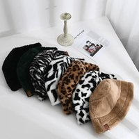Party Favor Plush Fisherman Hat Winter Warm Fashion Women Designer Hats Leopard Zebra Print Party Hat 13 Style XD24279