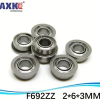Cuscinetti a sfera flangia in acciaio inox SF692 SF692ZZF F692ZZS SSF692ZZL 2 * 6 * 7.5 * 3 * 0.8 mm1