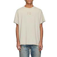 Paura di Dio 7th Beige Felt FG T-Shirt New Neb Nebbia Settimo Casual Cotton Oversize Tee Uomo Donna Hip Hop Streetwear MG210001