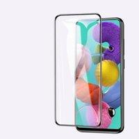 Kenar Eğrisi Tam Kapak Temperli Cam Ekran Koruyucu için Samsung A10S A20S A21S A31 Kağıt Paketi Ile