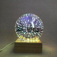 Внешняя торговля горячая распродажа светодиодных ночных ламп стекла волшебный свет USB творческий дом украшения ночной свет светодиодный светильник звездных неба